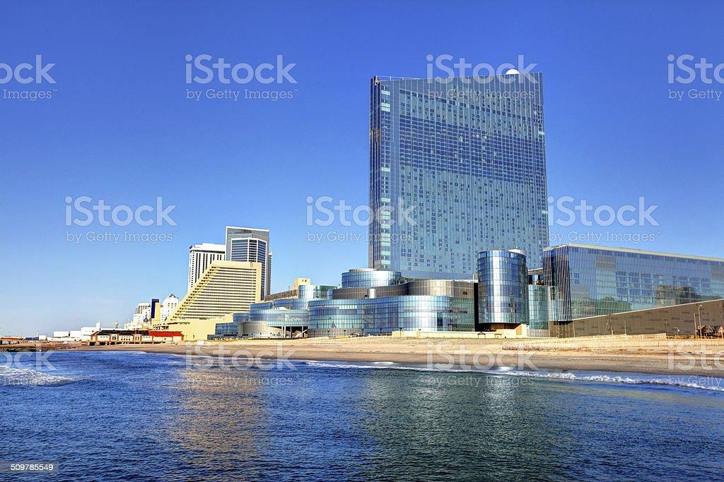 Revel Casino and the Atlantic City Skyline stock photo