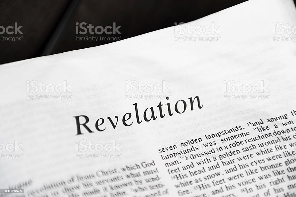 Revelation from Bible stock photo