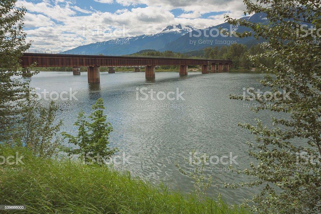 Revelstoke Train Bridge stock photo
