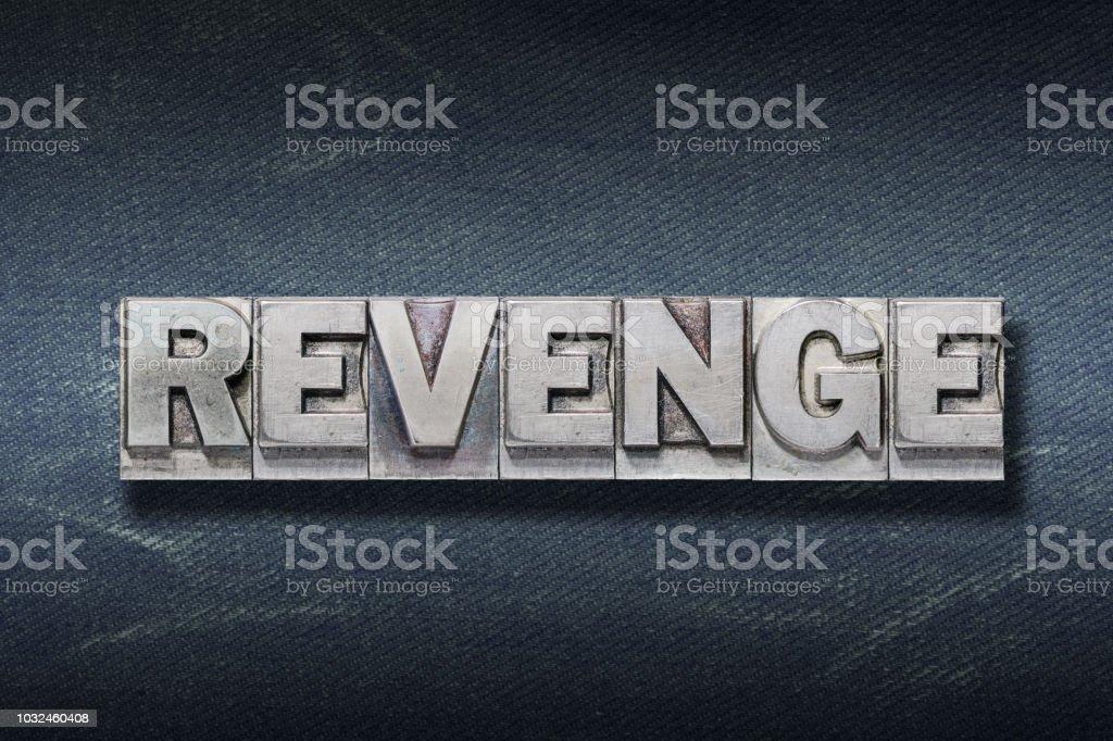 revenge word den stock photo