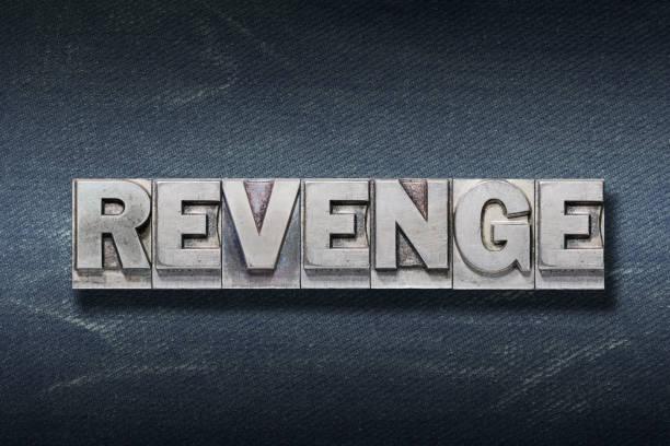 den palabra de venganza - foto de stock