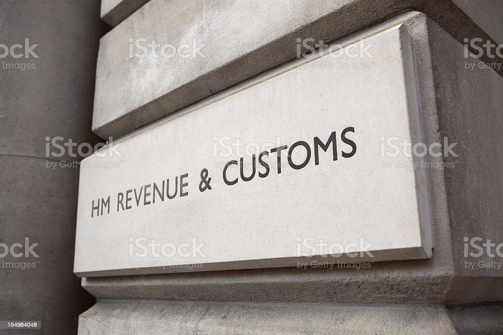 HM Revenue & Customs Sign (XXXL) royalty-free stock photo