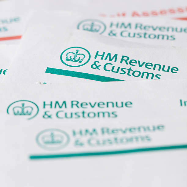HM Revenue and customs forms stock photo