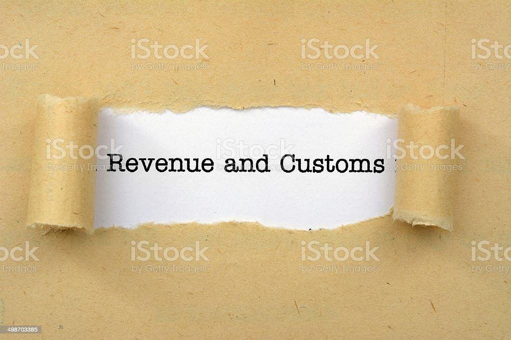 Revenue and customs stock photo