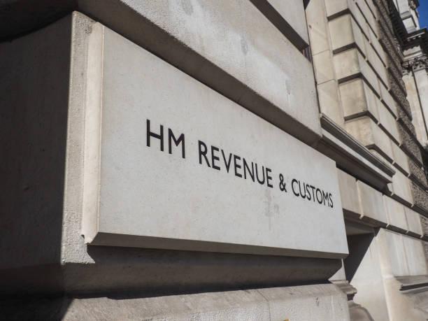 HM Revenue and Customs Zeichen in London – Foto
