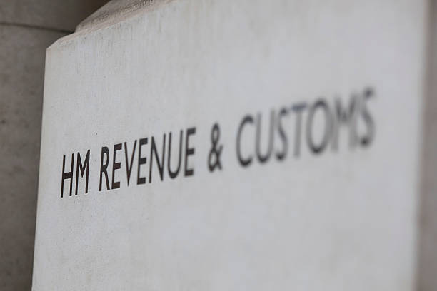 HM revenue and customs sign stock photo