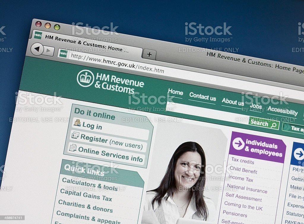HM Revenue and Customs website stock photo