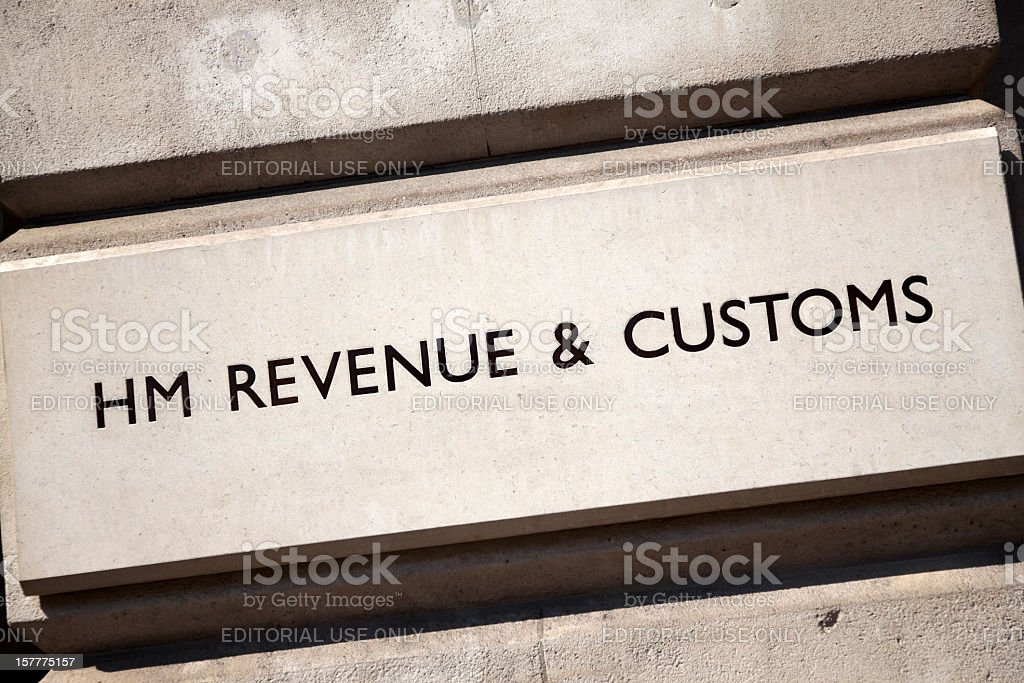 HM Revenue & Customs sign stock photo