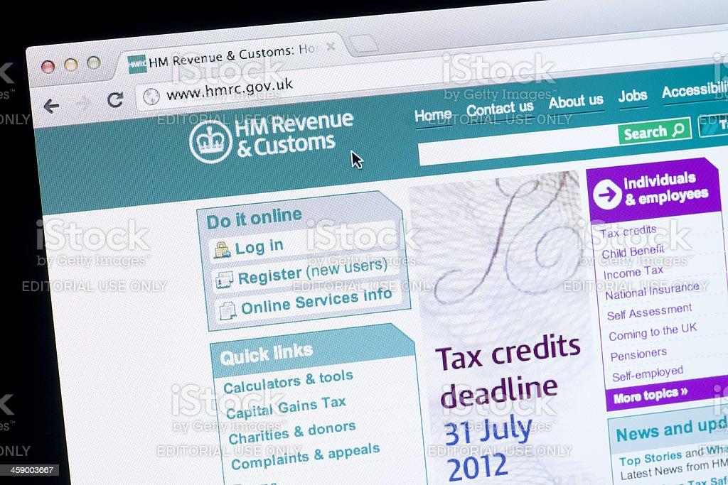 HM Revenue & Customs Website stock photo