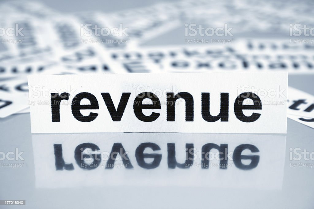 Revenue royalty-free stock photo