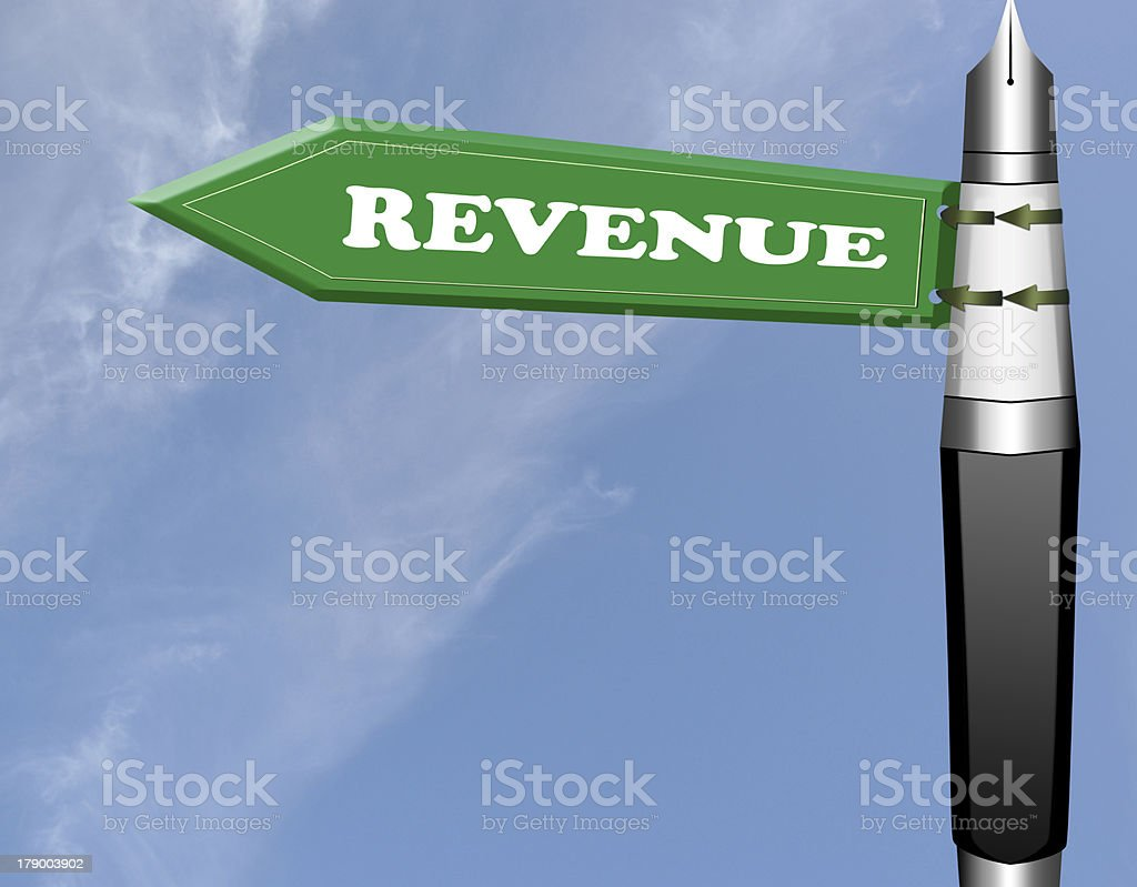 Revenue road sign royalty-free stock photo
