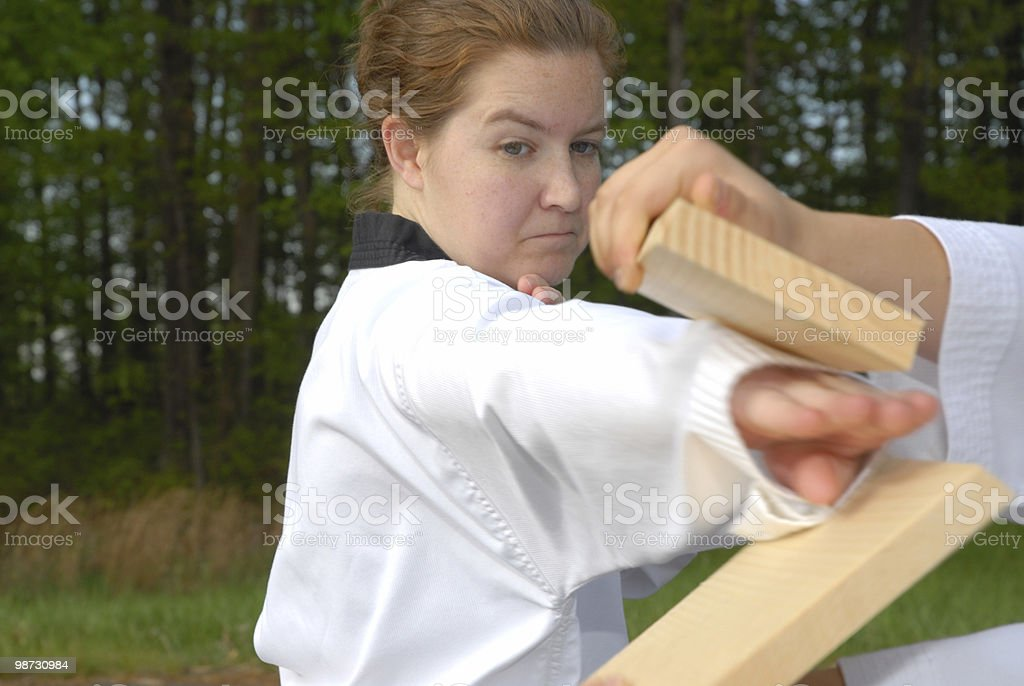 Reverse knife hand break royalty-free stock photo