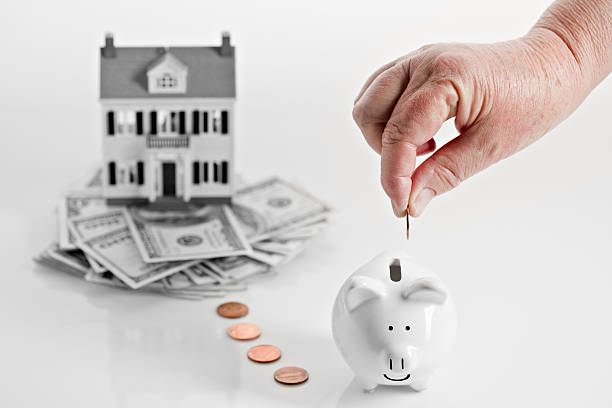 reverse mortgage concept - mortgages and loans stock pictures, royalty-free photos & images