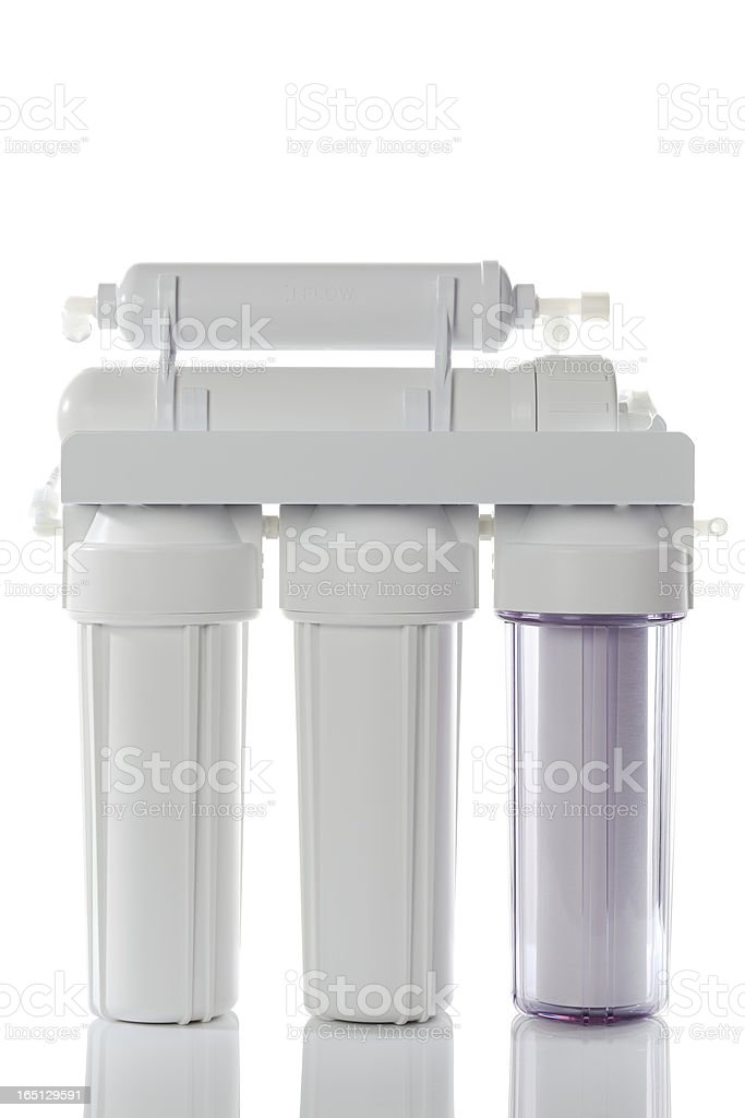 Reverse Osmosis Water Filter stock photo