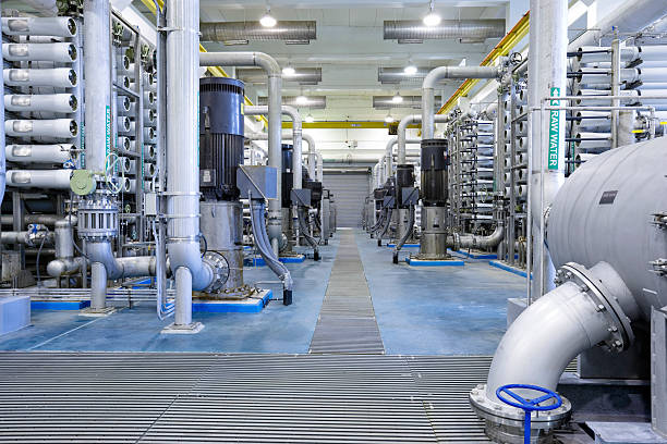 Reverse Osmosis Water Treatment Plant stock photo