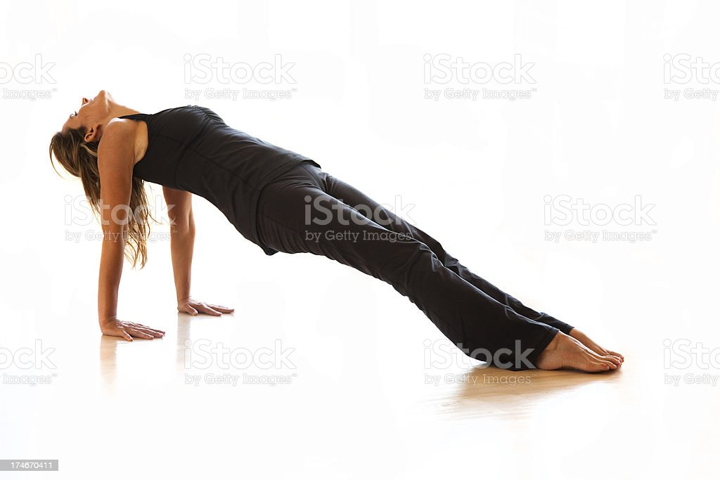 Reverse Plank Yoga Pose Stock Photo & More Pictures of 30-34