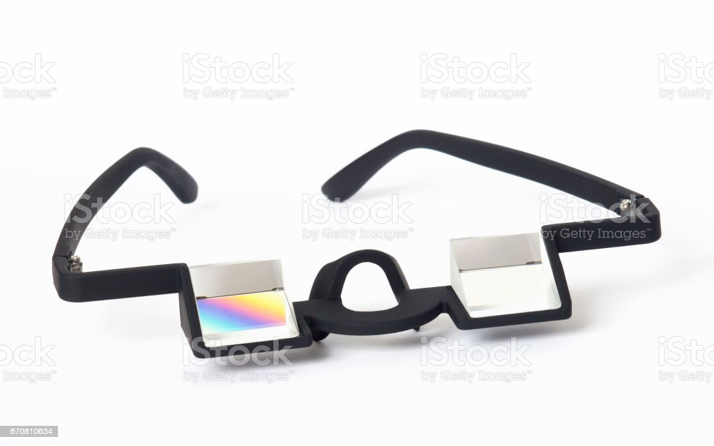 d3bdd3988e65 Reversible Prism Glasses For Climbing And Outdoor Activity - Stock image .