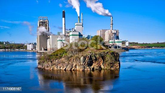 Irving Pulp & Paper Limited, Reversing Falls, Saint John, New Brunswick, Canada