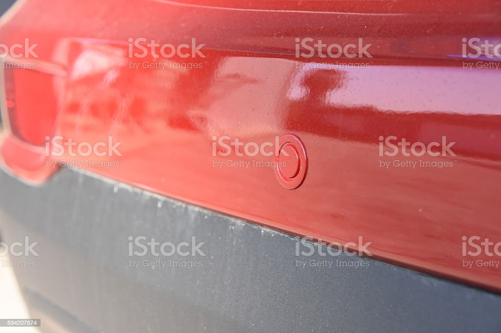 Reversing sensors stock photo