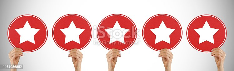 1130633985 istock photo Review concept on speech bubbles 1161036852