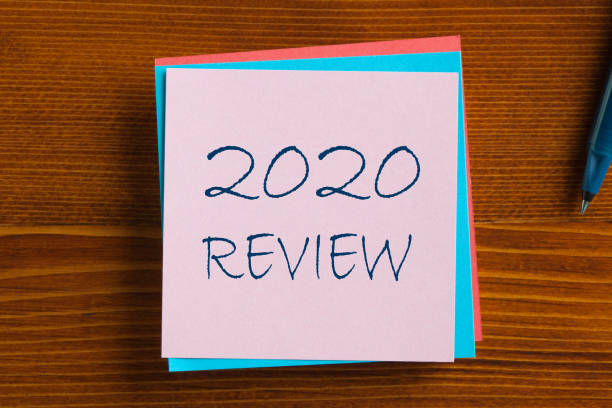 2020 Review Concept stock photo
