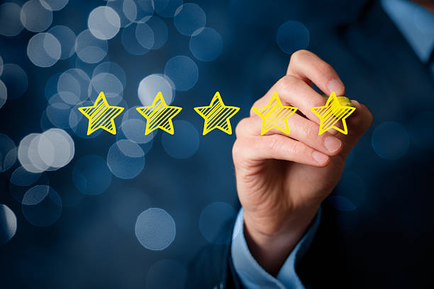 Review increase rating stock photo
