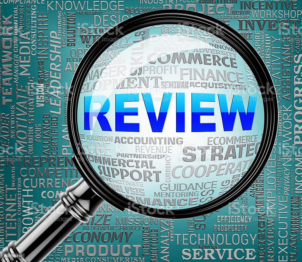 Review Magnifier Indicates Search Evaluating And Evaluate stock photo
