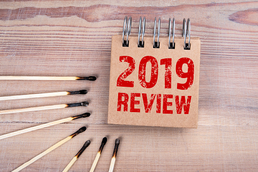 1163501702 istock photo 2019 review. Social media, goals achieved, marketing and business plan concept 1196460833