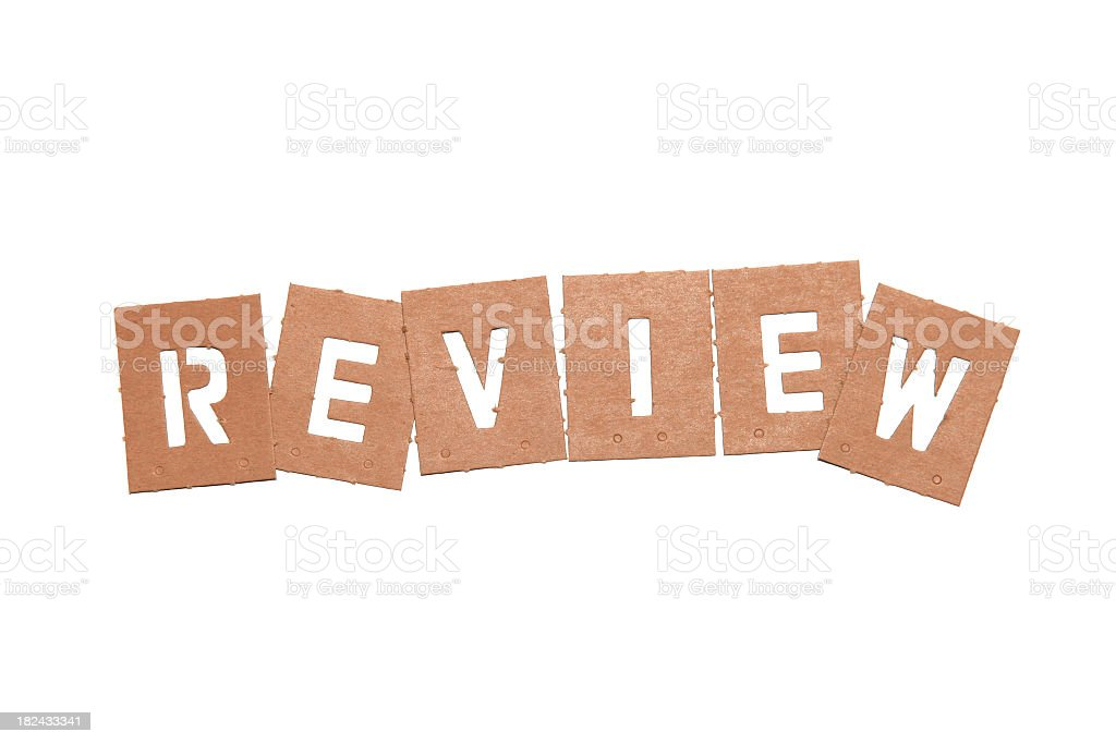 Review Stencil Word royalty-free stock photo