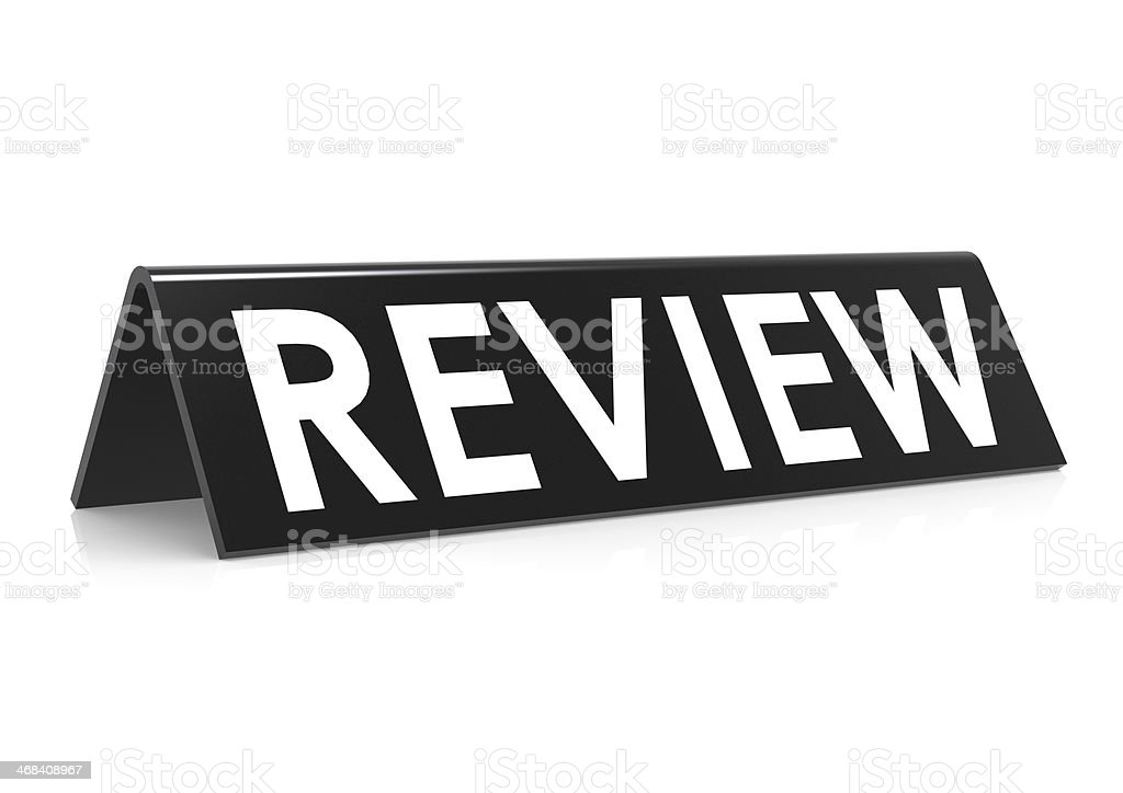 Review tag black royalty-free stock photo