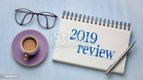 1186985932 istock photo 2019 review text in notebook 1186985932