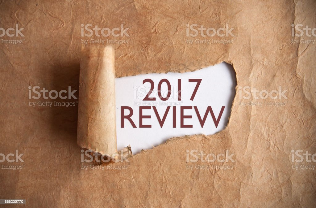 2017 review uncovered stock photo