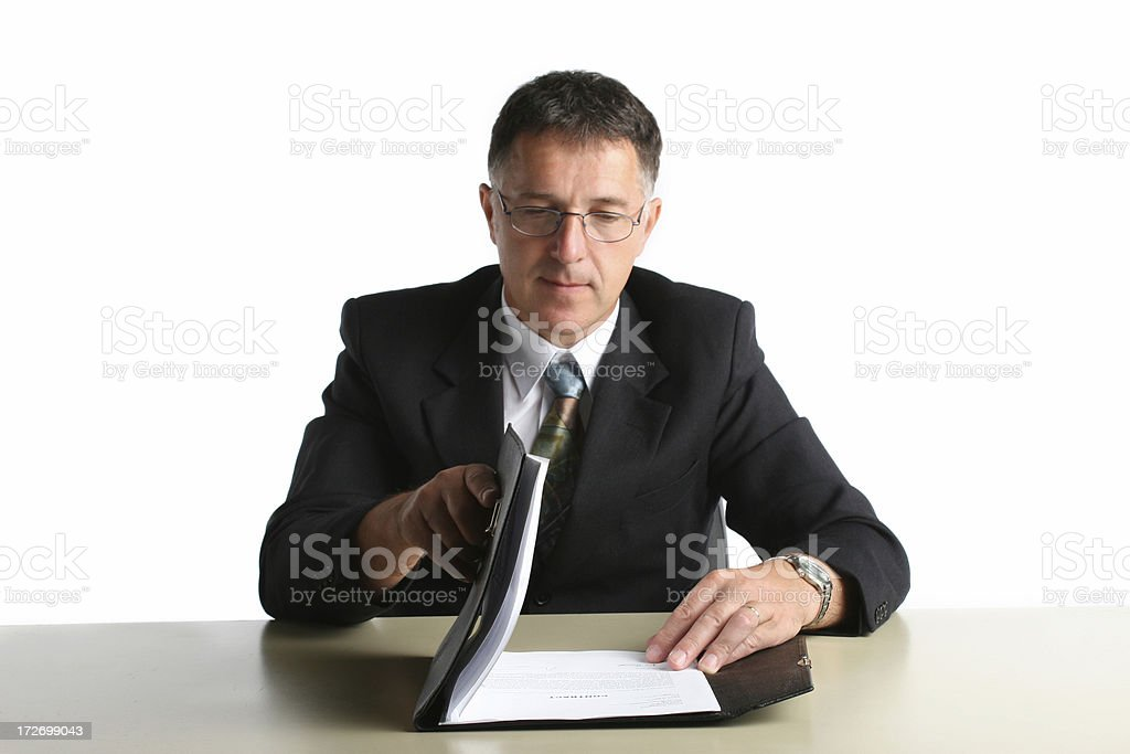 Reviewing a contract royalty-free stock photo