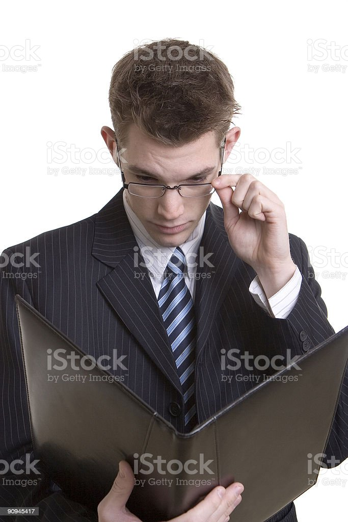 Reviewing business notes royalty-free stock photo