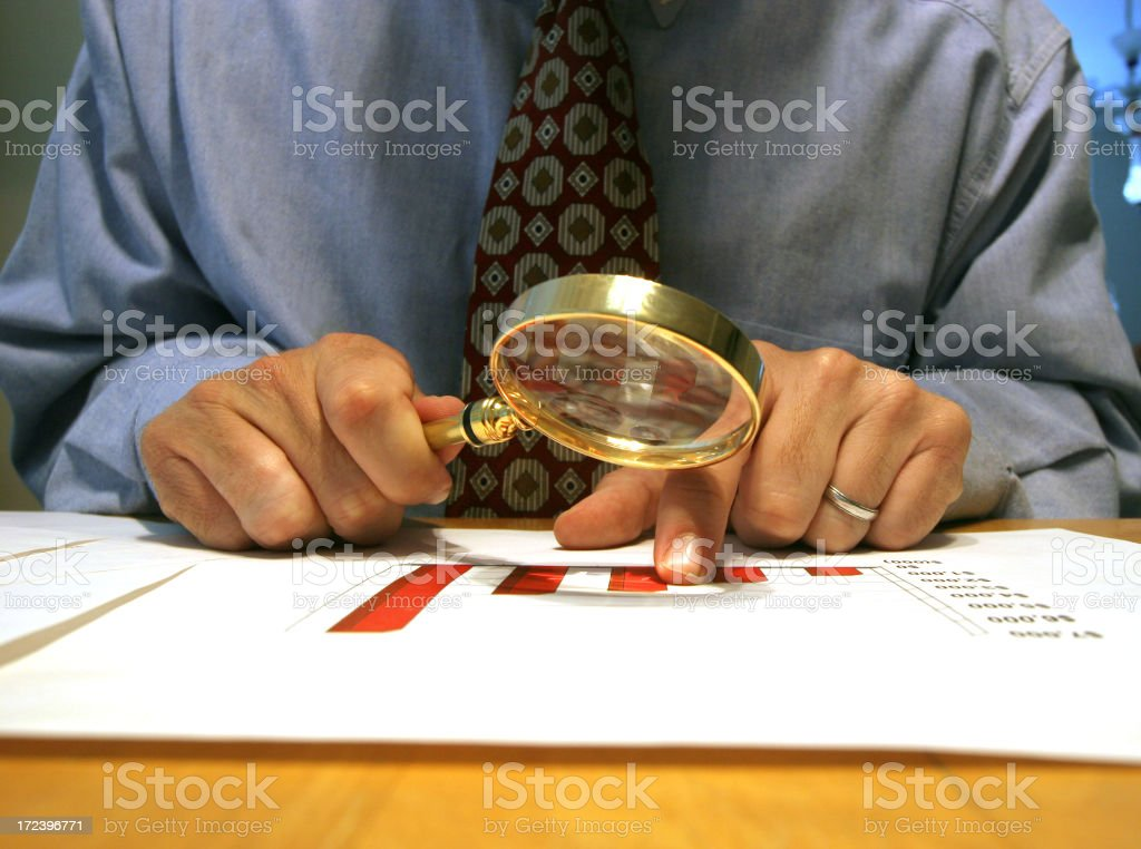 Reviewing results royalty-free stock photo