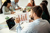 istock Reviewing the growth figures 1330678845