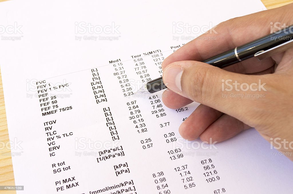 reviewing the numbers royalty-free stock photo