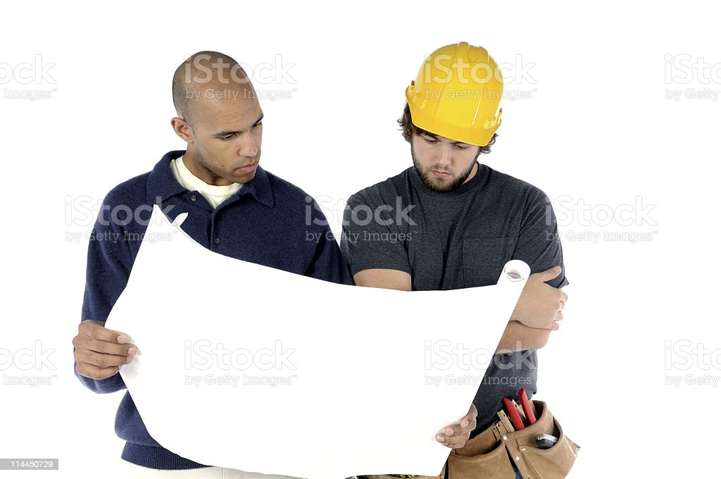 Reviewing The Plans royalty-free stock photo