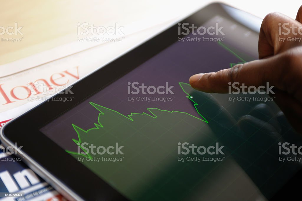 Reviewing the Stock Market/ Investment royalty-free stock photo