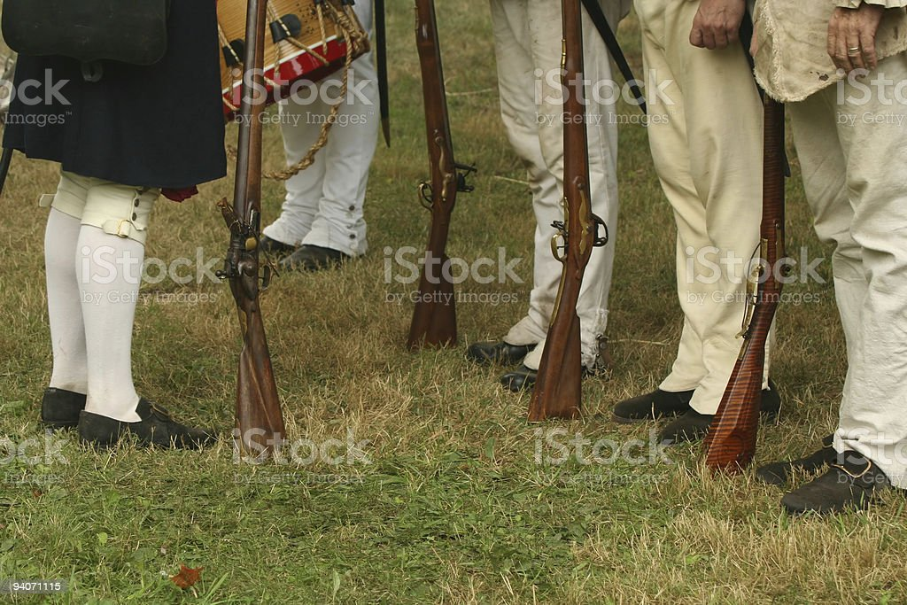 Reviewing the Troops--Revolutionary War Reenactment stock photo
