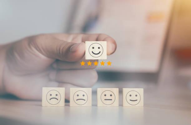 bewertungen und service-evaluierungskonzept - feedback stock-fotos und bilder
