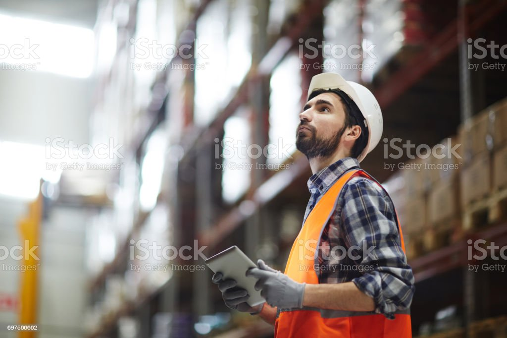 Revision of goods stock photo
