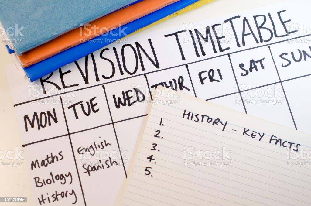 Revision oder Studie Zeitplan-Konzept – Foto