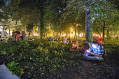 Revitalized garden in Bucharest city center as a part of Street Delivery project, an urban festival in Bucharest.