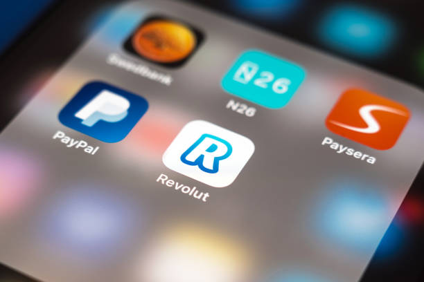 Revolut app logo stock photo