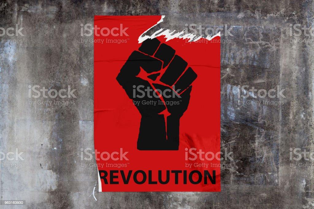 Revolution poster stock photo