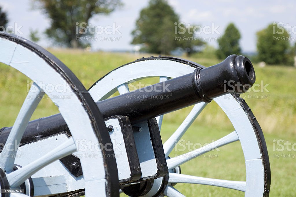 """Revolutionary War Cannon """"Cannon at Valley Forge, Pennsylvania. Location where George Washington spent the winter during the Revolutionary war in 1777."""" 18th Century Style Stock Photo"""