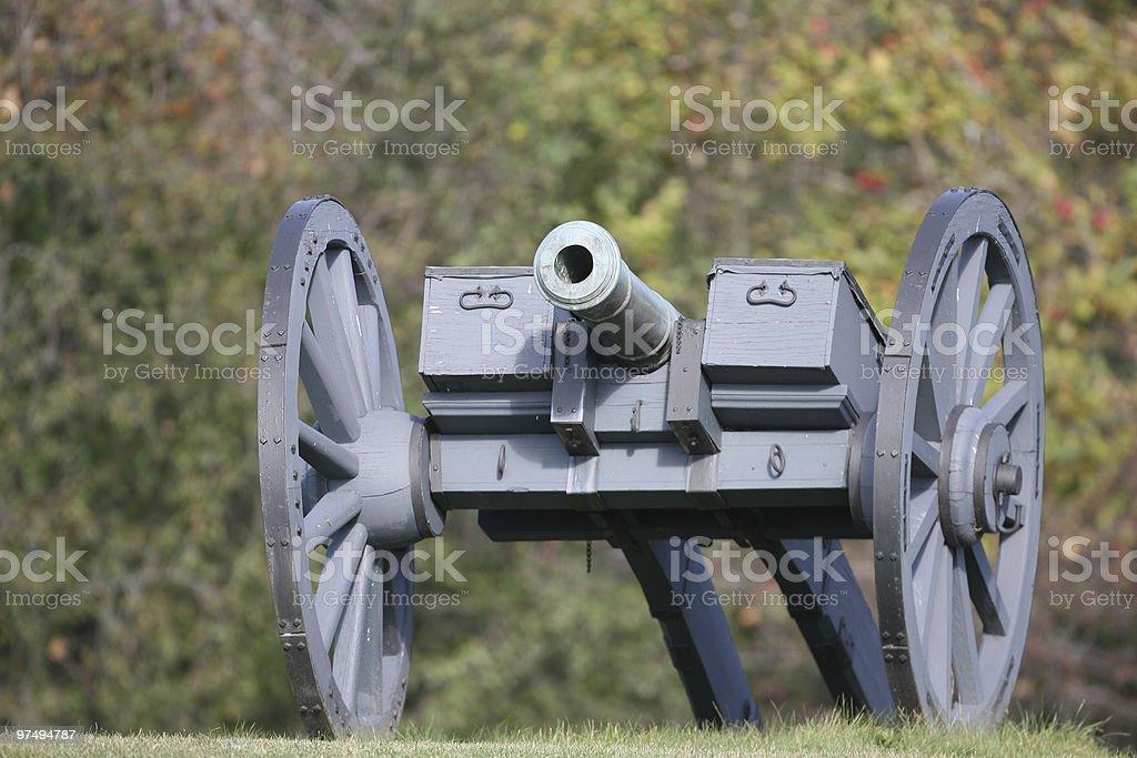Revolutionary War Cannon royalty-free stock photo