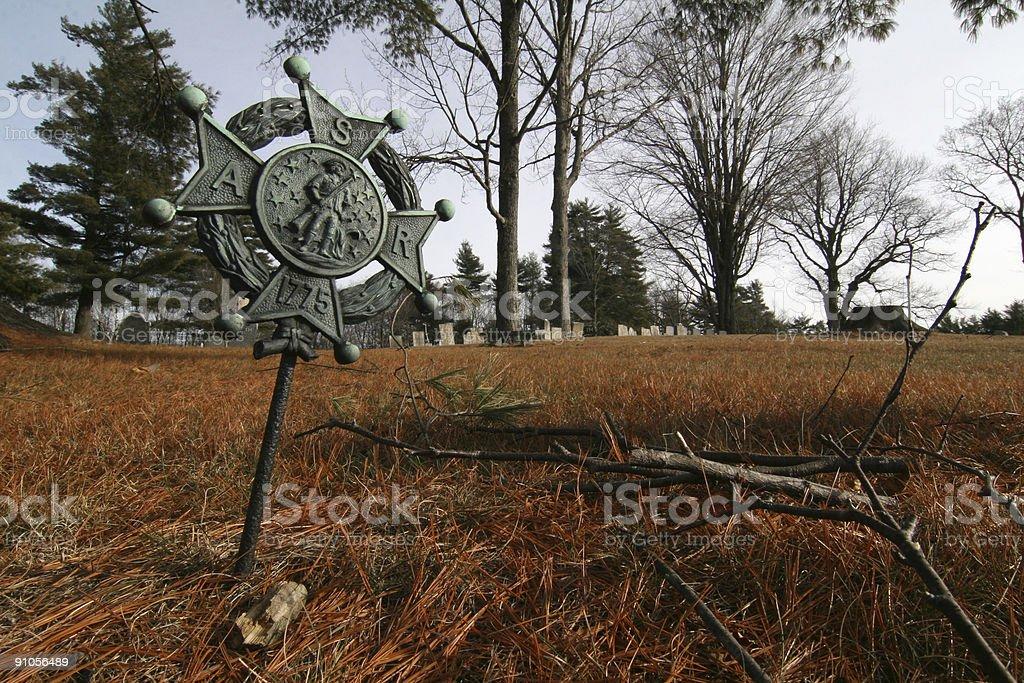 Revolutionary War grave marker royalty-free stock photo