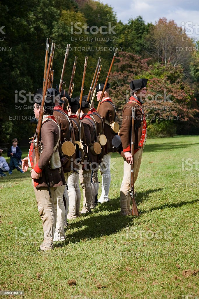 Revolutionary War Reenactment Stock Photo & More Pictures of